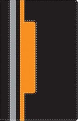 Biblia NVI Héroes - Naranja/Negro (Piel Italiana)