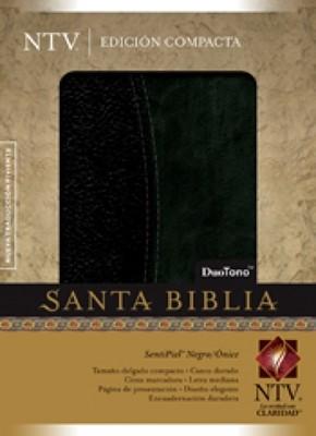 Biblia Compacta NTV DuoTono (Piel Elaborada Negro / Ónice) [Biblia]