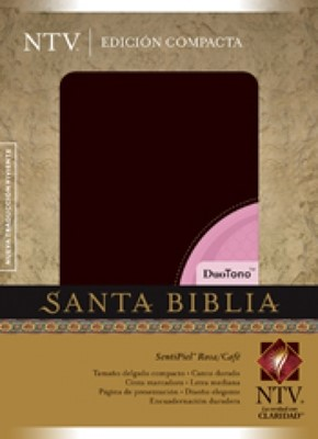 Biblia Compacta NTV DuoTono (Piel elaborada Rosa / Café) [Biblia]