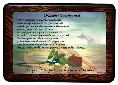 Oración matrimonial (Cuadro con resina) [Miscelanea]