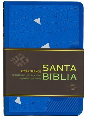 Santa Biblia RVR60 Letra Grande (Azul) (Semi-Piel Azul) [Biblia]