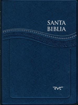 Santa Biblia RVC Letra Grande (Azul) (Vinilo Azul) [Biblia]