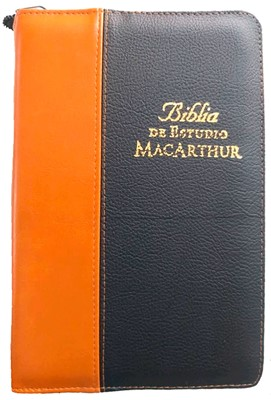 Biblia de Estudio MacArthur Rústica con Forro Dos Tonos (Forro dos tonos con cierre)