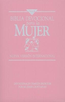 Biblia Devocional para la Mujer NVI (Piel elaborada rosada)