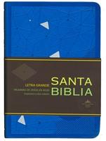 Santa Biblia RVR60 Letra Grande (Azul)